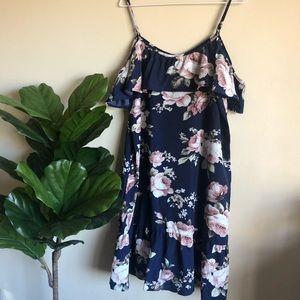 Dresses & Skirts - Floral off the shoulder dress